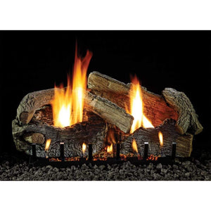 "Empire 30"" Stacked Aged Oak Refractory Log Set - US Fireplace Store"