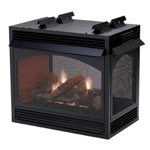 "Empire 36"" Vail Vent-Free Multi-Sided Fireplace, Peninsula and See-Through - US Fireplace Store"