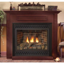 "Empire 36"" Vail Vent-Free Premium Fireplace with Slope Glaze Burner - Thermostat Control - US Fireplace Store"