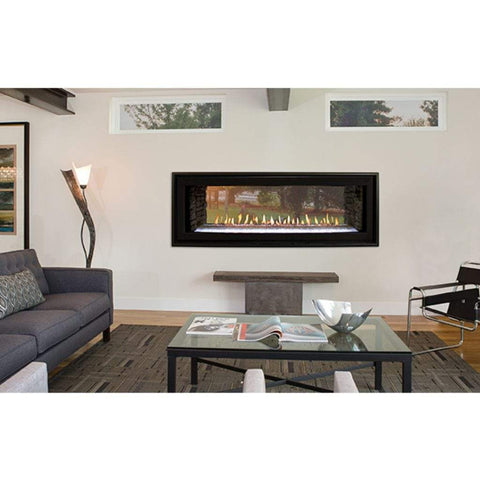 "Empire 48"" Boulevard Direct Vent See-Through Linear Fireplace - US Fireplace Store"