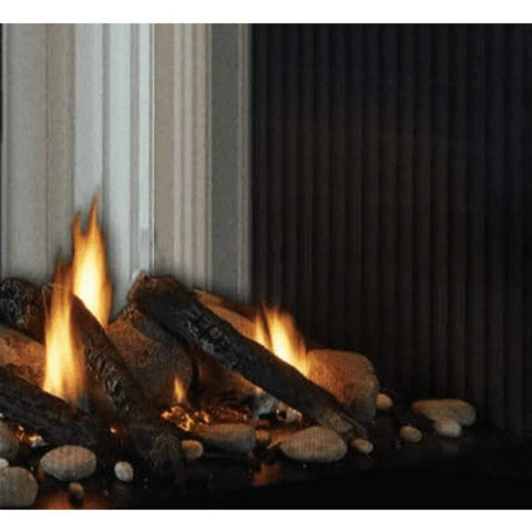 "Empire Mixed Logs and Stones Media Accessory for 36"" Peninsula and See-Thru Tahoe Fireplaces - US Fireplace Store"