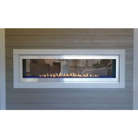 "Empire Stainless Steel Exterior Frame for 48"" See-Through Direct Vent Boulevard Fireplace - US Fireplace Store"