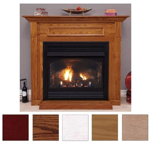 "Empire Wooden Mantel Cabinet with Base for 36"" Fireplaces and Fireboxes - US Fireplace Store"