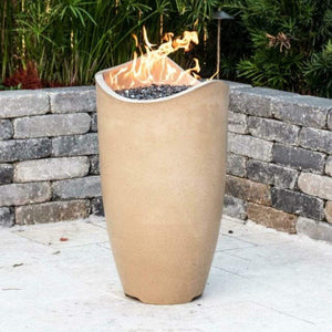 "American Fyre Designs 20"" Wave Gas Fire Urn with Access Door - US Fireplace Store"