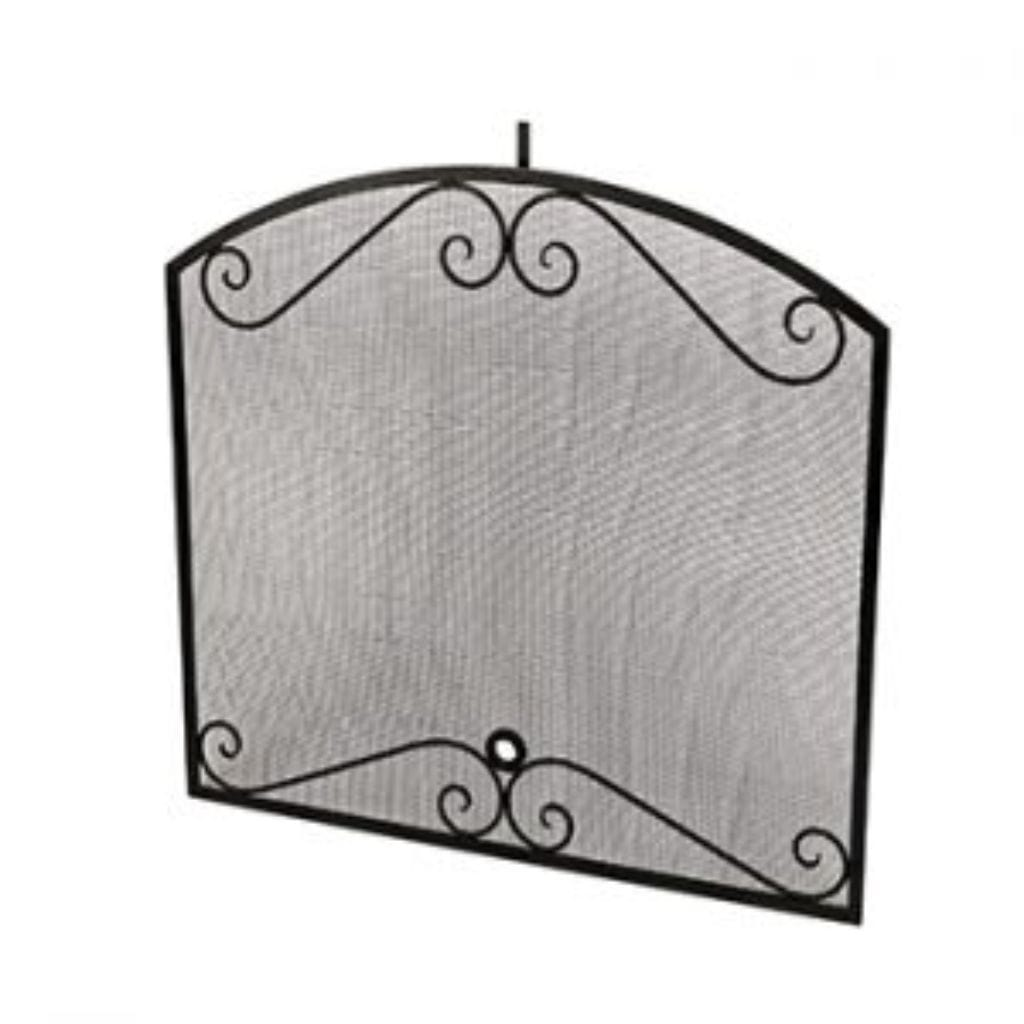 American Fyre Designs Arched Black Scroll Screen Fireplace Covers - US Fireplace Store