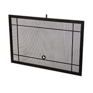 American Fyre Designs Black Mesh Screen Fireplace Covers - US Fireplace Store