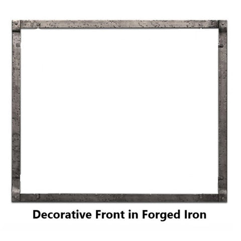 "Empire Rushmore Decorative Forged Iron Inset for 30""/35"" Fireplace Accessory - US Fireplace Store"