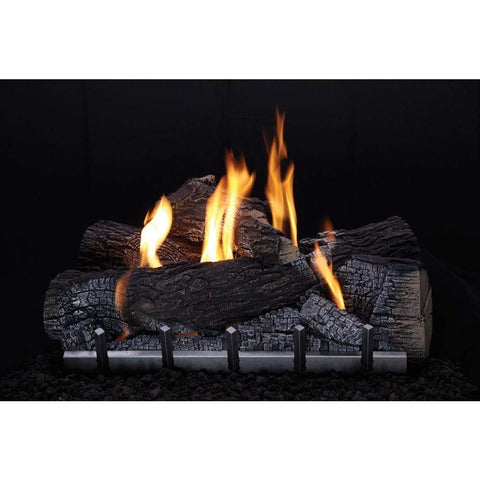"Empire Carol Rose 30"" Wildwood Refractory Log Set with Millivolt Harmony Burner - US Fireplace Store"