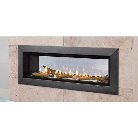 "Majestic 48"" Echelon II See-Through Direct Vent Fireplace with IntelliFire Touch Ignition System - US Fireplace Store"
