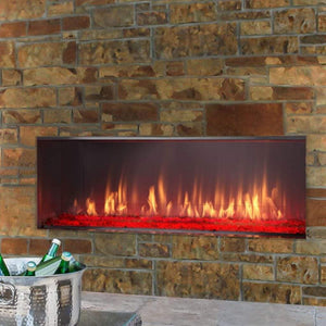 "Majestic 51"" Lanai Outdoor Linear Fireplace with IntelliFire Ignition System - US Fireplace Store"