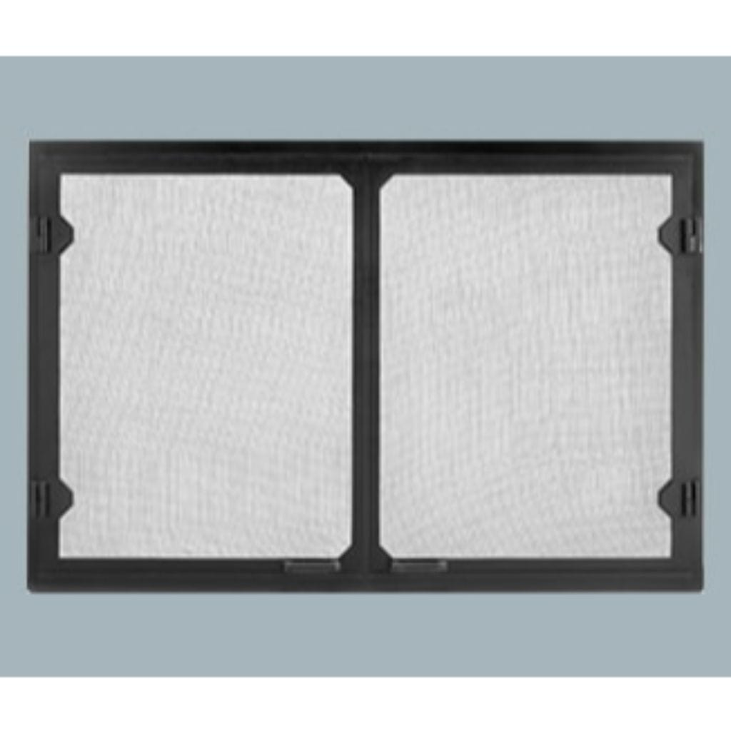 Majestic Black Grand Vista Cabinet Style Mesh Doors for Biltmore Wood Burning Fireplace - US Fireplace Store