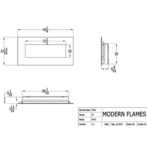 "Modern Flames 43"" Fantastic Flame No Heat Built-In/Wall Mounted Electric Fireplace - US Fireplace Store"