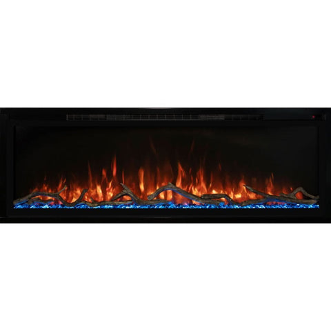 "Modern Flames 50"" Spectrum Slimline Wall Mount/Recessed Electric Fireplace - US Fireplace Store"