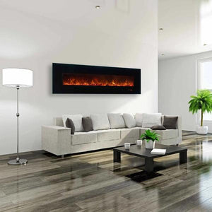"MODERN FLAMES AMBIANCE BG 2 95"" WALL MOUNTED ELECTRIC FIREPLACE - US Fireplace Store"