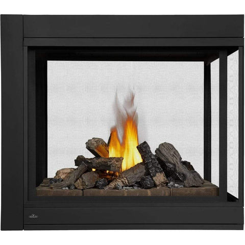 "Napoleon Ascent 43"" Multi-View Direct Vent Peninsula Gas Fireplace with Logs - US Fireplace Store"