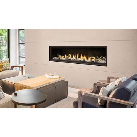 "Napoleon Vector 74"" Single Sided Linear Direct Vent Gas Fireplace - US Fireplace Store"