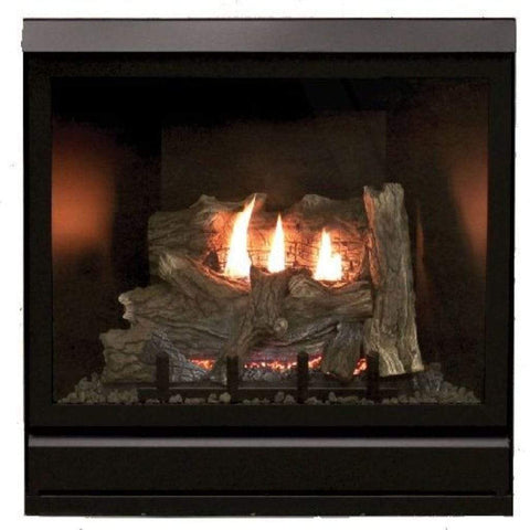 "Empire 32"" Tahoe Clean-Face Direct-Vent Deluxe Fireplace - IP Control with On/Off Switch - US Fireplace Store"