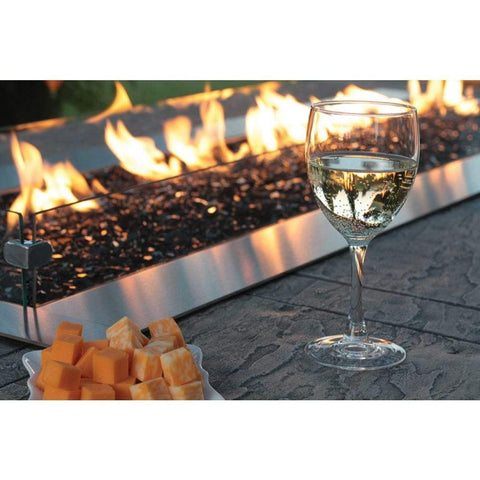 "Empire Carol Rose 48"" Wind Deflector Glass Fire Pit Accessory - US Fireplace Store"