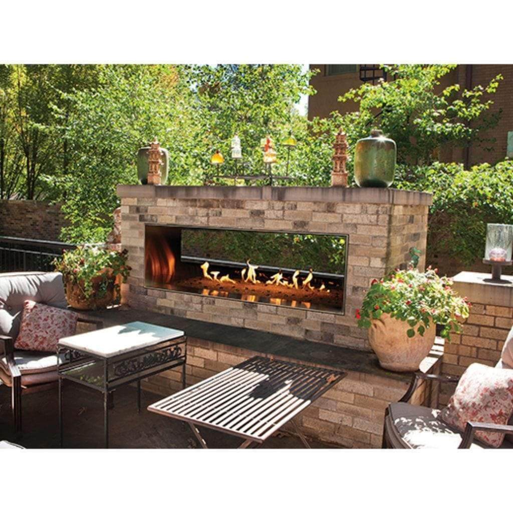 "Empire Carol Rose 48"" Manual Control, 55K/35K BTU Outdoor Linear See-Thru Fireplace - US Fireplace Store"