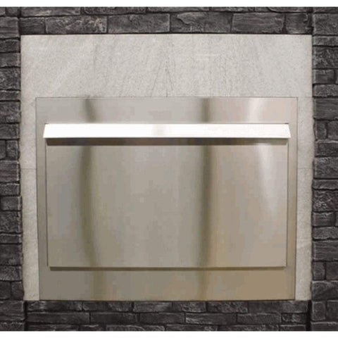 "Empire Carol Rose 36"" Stainless Steel Weather Door Premium Outdoor Firebox Accessory - US Fireplace Store"