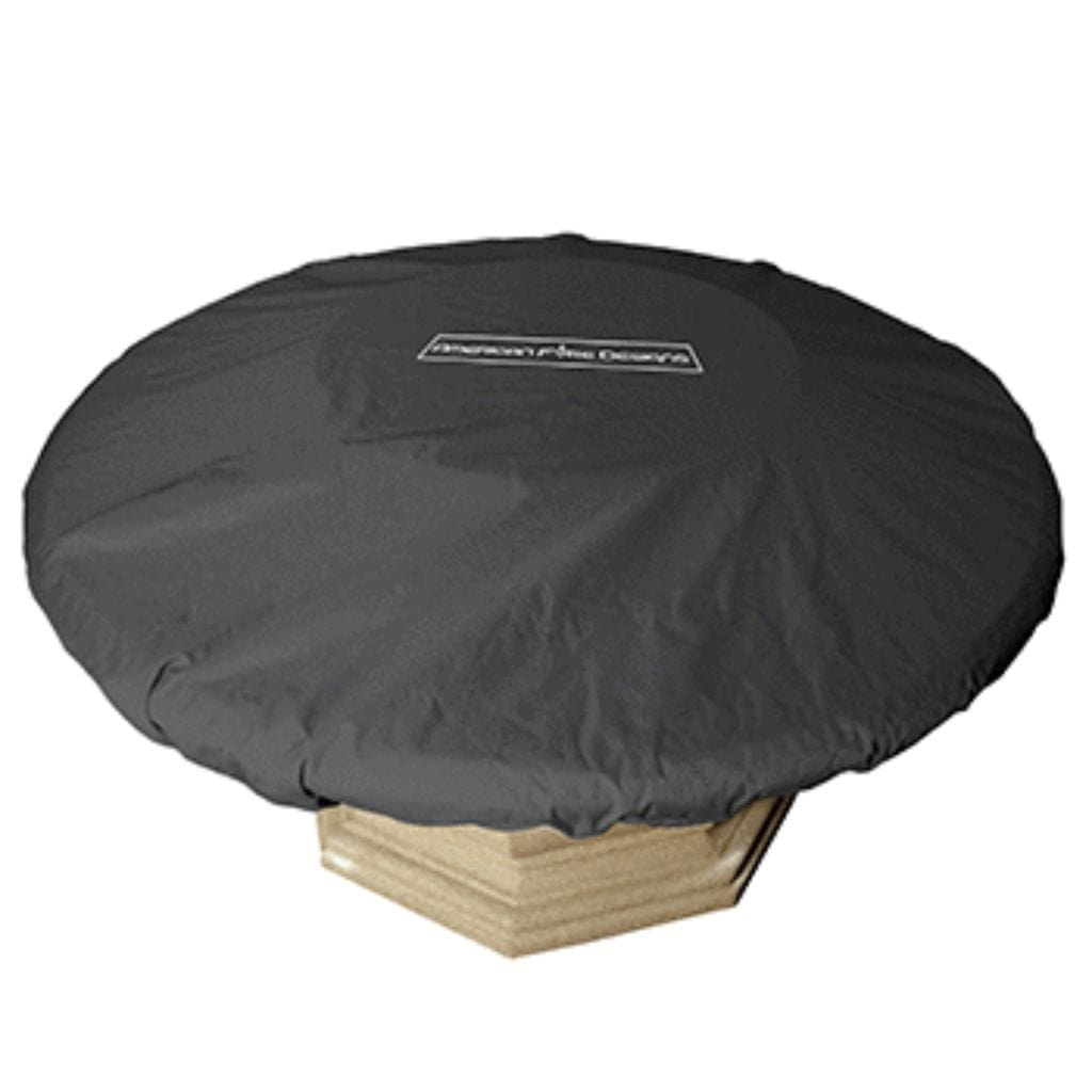 American Fyre Designs 54″/60″ Round Firetable Cover Protective Fabric Covers - US Fireplace Store