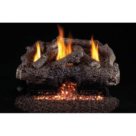 "Real Fyre 16/18"" Charred Frontier Oak Gas Log Set - US Fireplace Store"