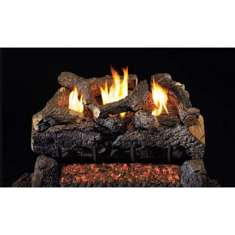 "Real Fyre 16/18"" Evening Fyre Charred Gas Log Set - US Fireplace Store"