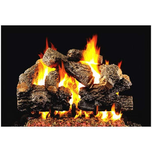 "Real Fyre 18/20"" Charred Royal English Oak Gas Log Set - US Fireplace Store"