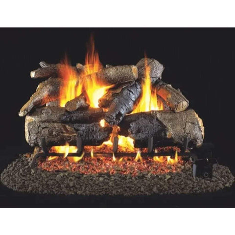 "Real Fyre 18"" Charred American Oak Gas Log Set - US Fireplace Store"