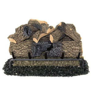 "Real Fyre 18"" Charred Oak Gas Log Set - US Fireplace Store"