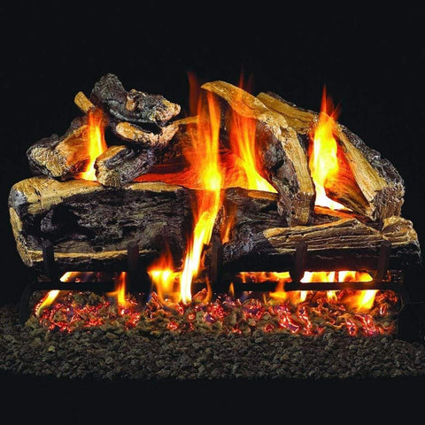 "Real Fyre 18"" Charred Rugged Split Oak Gas Log Set - US Fireplace Store"