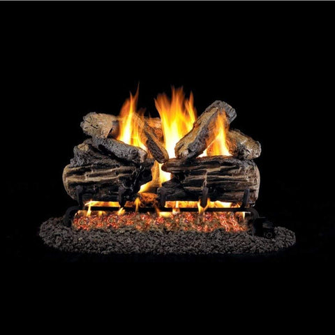 "Real Fyre 18"" Charred Split Oak Gas Log Set - US Fireplace Store"