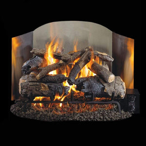 "Real Fyre 18"" Traditional Satin Stainless Steel Fyreback - US Fireplace Store"