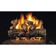 "Real Fyre 24"" Burnt Rustic Oak Gas Log Set - US Fireplace Store"