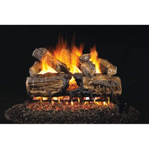 "Real Fyre 24"" Burnt Split Oak Gas Log Set - US Fireplace Store"