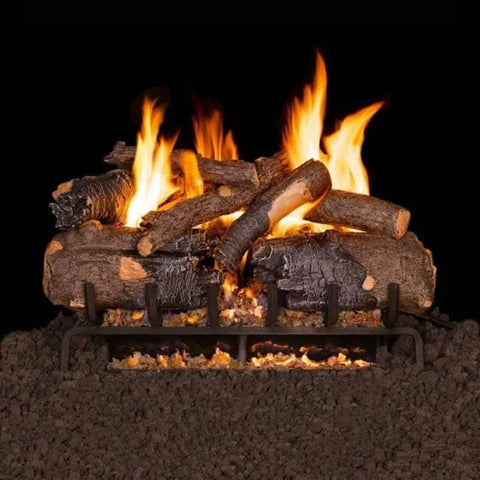 "Real Fyre 24"" Charred American Oak Gas Log Set - US Fireplace Store"