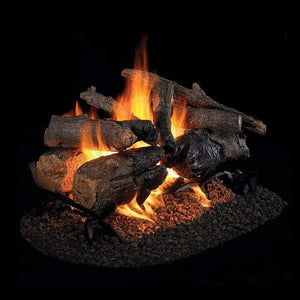 "Real Fyre 24"" Charred American Oak See-Thru Gas Log Set - US Fireplace Store"
