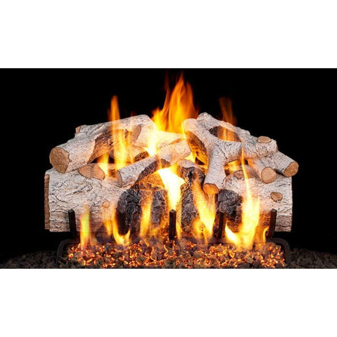 "Real Fyre 24"" Charred Mountain Birch Gas Log Set - US Fireplace Store"