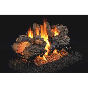 "Real Fyre 24"" Charred Oak See-Thru Gas Log Set - US Fireplace Store"