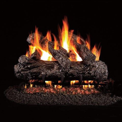 "Real Fyre 24"" Rustic Oak Gas Log Set - US Fireplace Store"