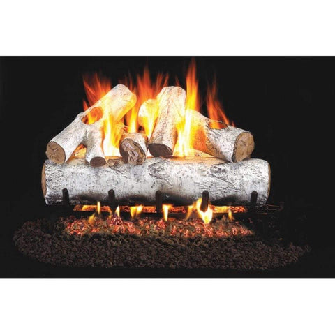 "Real Fyre 24"" White Birch Gas Log Set - US Fireplace Store"