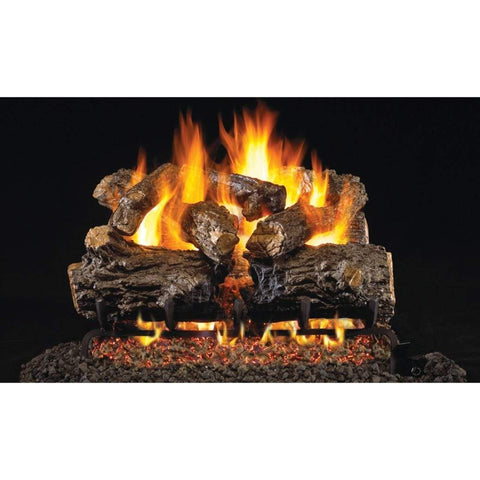 "Real Fyre 30"" Burnt Rustic Oak Gas Log Set - US Fireplace Store"