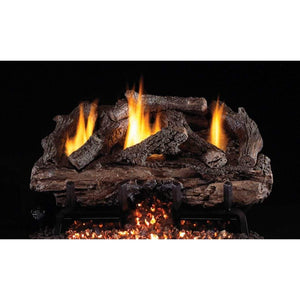 "Real Fyre 30"" Charred Aged Split Gas Log Set - US Fireplace Store"