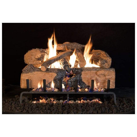 "Real Fyre 30"" Charred Angel Split Oak Gas Log Set - US Fireplace Store"