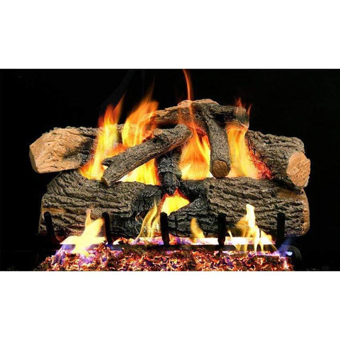 "Real Fyre 30"" Charred Evergreen Oak Gas Log Set - US Fireplace Store"