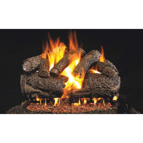 "Real Fyre 30"" Charred Forest Oak Gas Log Set - US Fireplace Store"