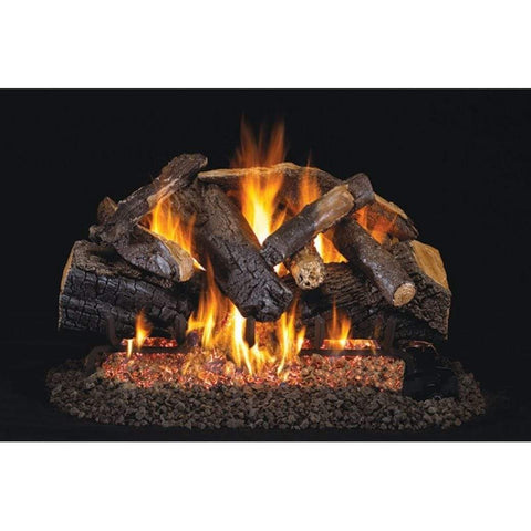 "Real Fyre 30"" Charred Majestic Oak Gas Log Set - US Fireplace Store"