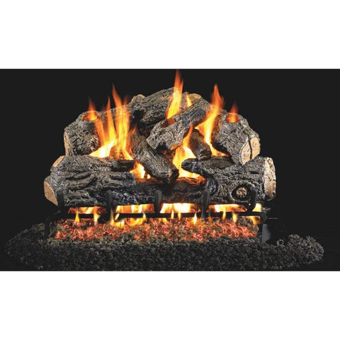 "Real Fyre 30"" Charred Northern Oak Gas Log Set - US Fireplace Store"