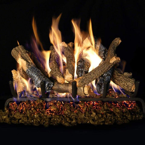 "Real Fyre 30"" Charred Oak Stack Gas Log Set - US Fireplace Store"