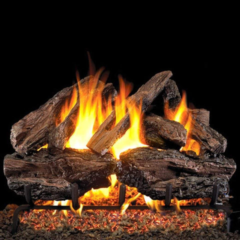 "Real Fyre 30"" Charred Red Oak Gas Log Set - US Fireplace Store"